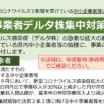 【補助金・給付金情報】中小事業者デルタ株集中対策支援金